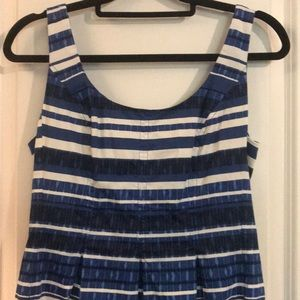 Nine West blue & white striped fit and flare dress